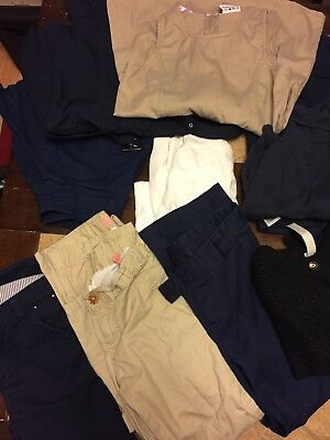 School Uniform Hugh Lot Of 12 Size 5/6 French Toast/carter/other