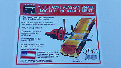Granberg G777 Alaskan Chain Saw Mill for Chainsaw Logging