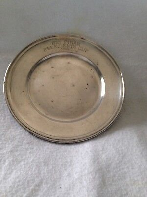 Gorham Sterling Silver 1960 Trophy Plate Rio Pinar Presidents Cup #10 81 Grams