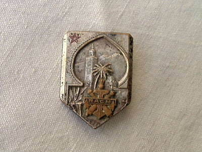 Wwi Ww1 1914 1918 French Morocco Racm Navy Artillery Medal Badge Pin Hallmarked