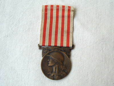 Old Wwi Ww1 1914 1918 French France Grande Guerre Medal Of The War Badge Ribbon