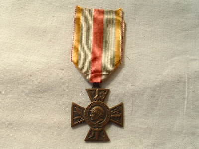 Old Wwi Ww1 1914 1918 French France Military Cross Of Volunteers Badge Ribbon