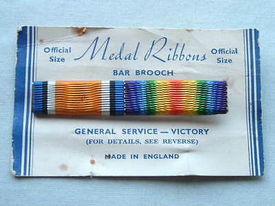Wwi Ww1 English 1914-1918 General Service Victory Full Size Ribbon Bar With Pin