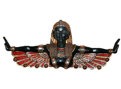 "46"" Anciejt Egyptian Goddess of Halwan Wall Sculpture Replica Reproduction"