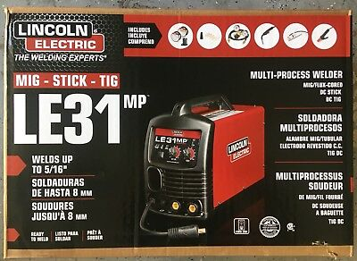 Lincoln Electric Le31Mp Multi Process  Mig Stick Tig Welder, K3461-1
