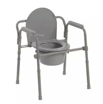 Drive Medical Steel Folding Bedside Commode Still in the box!