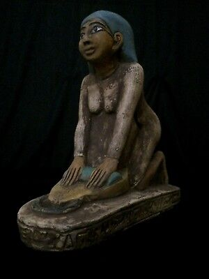 ANCIENT EGYPTIAN ART ANTIQUES Statue EGYPT STONE Baking Bread Women 1860-1770 BC