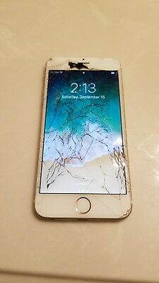 (Cracked Screen)Used Gold Apple IPhone 6 16gb