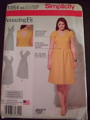 Simplicity 1354 Misses/'//Women/'s Dress with Cup Variations   Sewing Pattern