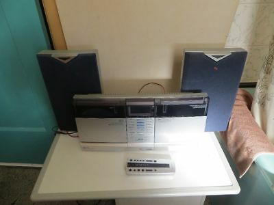 A Nice Schneider Swh 350 Wall Mounted Hi-Fi Plus Remote & Speakers, Good