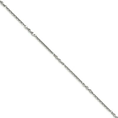 Stainless Steel 22in Polished Fancy Link Chain Necklace