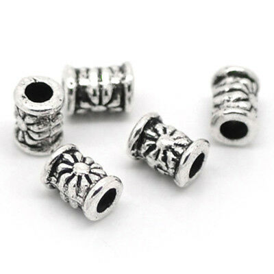 12x6mm 2pcs Iron Spring Tube Beads Platinum 15x78x9mm Noodle Beads Spacer Hole