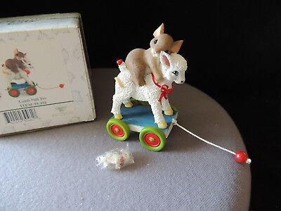 Charming Tails - Fitz and Floyd - Lamb Pull Toy - #98/456 - Lamb Charm - box too
