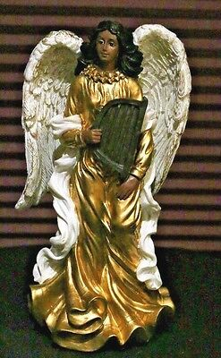 1997 African American Gold Angel Figurine Statue Collectible Young Inc