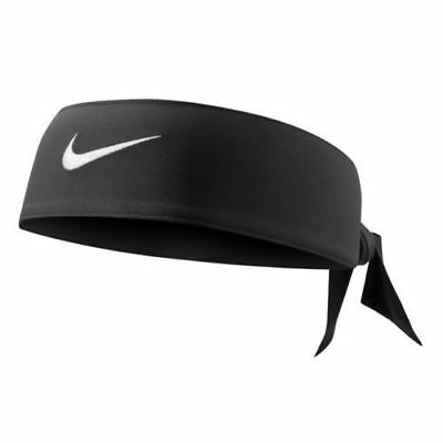 Nike Swoosh Dri-Fit Head Tie Black Headband New Men Ladies Women Unisex NWT