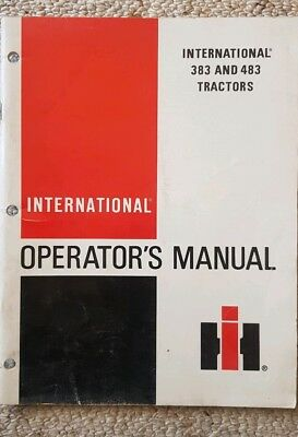 International Tractor 383 483 Operators Manual 81 pages vintage tractor book