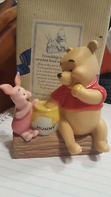 "WINNIE THE POOH AND PIGLET  ""Friendship is the Sweetest Kind of Sharing"" FIGURE"