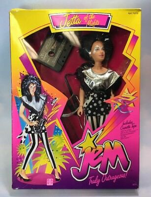 Jem and the Holograms JETTA doll clothes instrument stand NEW in Box MISFITS