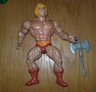 Vintage 1981 Tiawan He-Man Masters of the Universe figure with battle Axe