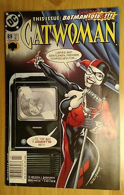 Catwoman #89 GOTHAM CITY SIRENS HARLEY QUINN APP. Poison Ivy 9.6+ MINT SHAPE