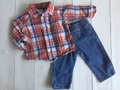 4d61880c5 Carters Baby Boy 6 Months Easter 🐣 Outfit Jeans & Shirt Great Condition