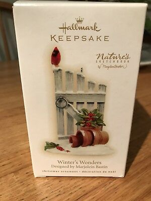 Hallmark 2009 Nature's Sketchbook Winter's Wonders Garden NIB