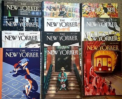 The NEW YORKER magazine Lot  of 12 issues 2017good-very good