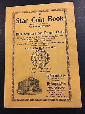 21st Edition Star Coin Book Rare American & Foreign Coins Numismatic Co of Texas