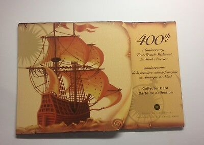 2004 Canada Collector Card of Coins 400th Ann. 1st French Settlement- 5 Coins #2