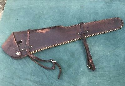 Vintage Eubanks Leather Rifle Holster For Horse Nice!!