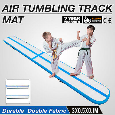 10Ft Air Track Floor Tumbling Inflatable Gym Mat 4in Thick Training Gym Yoga