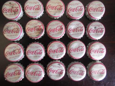 Lot of 20 Vintage Coca Cola Coke Crown Bottle Caps Corked Lined