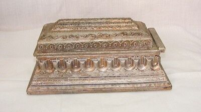 Old Vintage Original Unique Wooden Hand Carved Handicraft Box In Good Condition