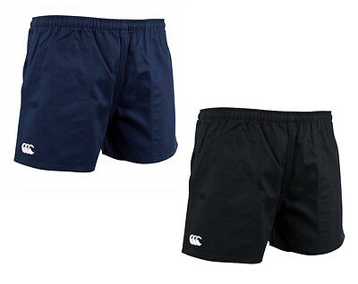 Canterbury Mens Cotton Rugged Drill Shorts Black/Navy