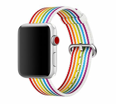 Official Apple Watch 42mm Woven Nylon Pride 2018 Band Limited Edition Sold Out!