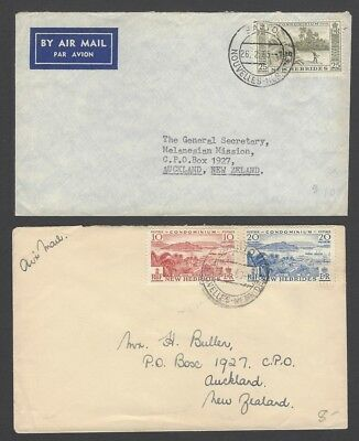 New Hebrides collection of English currency covers (9)