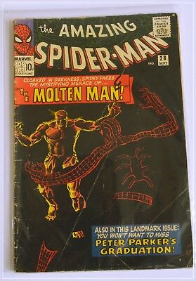 Amazing Spider-Man #28. 1st Molten Man  Classic Steve Ditko Cover and interiors