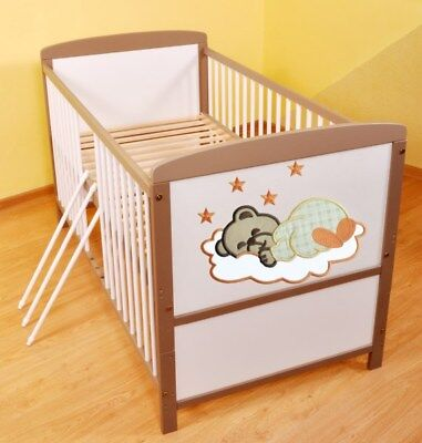 babybett kinderbett juniorbett weiss 140x70 bettset. Black Bedroom Furniture Sets. Home Design Ideas