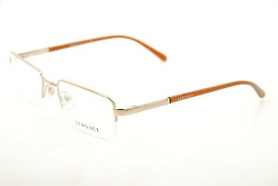 241fb736f9c2 New Authentic Versace Mod. 1066 1053 Gold Brown 50mm Frames Eyeglasses RX  Italy
