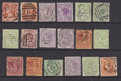 Victoria Colonial Selection With Some Rare Numeral Postmarks (Gj5)