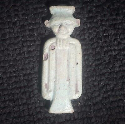 Rare Ancient Egypt Egyptian antique   Faience  AMULET OF PATAIKOS. 600 - 300 B.C
