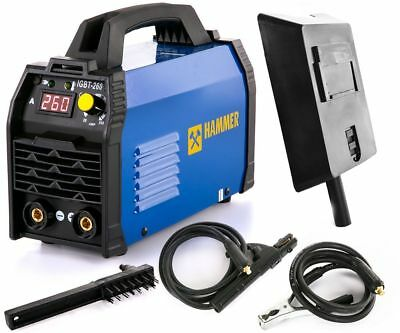 Inverter ARC Welder IGBT HAMMER 260Amp MMA 260A ANTI STICK, HOT START, ARC FORCE
