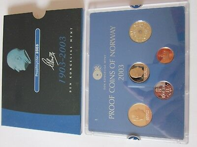KMS Norwegen 2003,PP,  Norway Coins Set,  Coins of Norge 2003