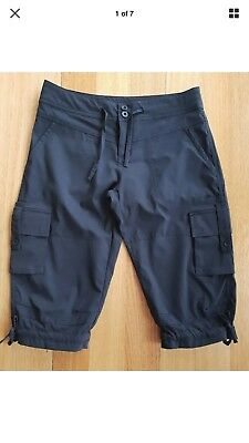 Kathmandu Women Cargo Hiking Pants Size 8 - Black