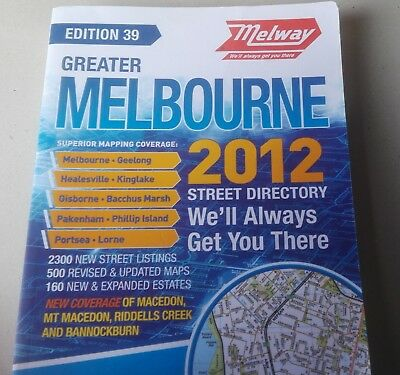 Used Melway 2012 , 39Th , Street Directory In Good Condition Pick Up Only
