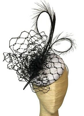 Morgan And Taylor Black And White Feather Fascinator Races Wedding Derby Day