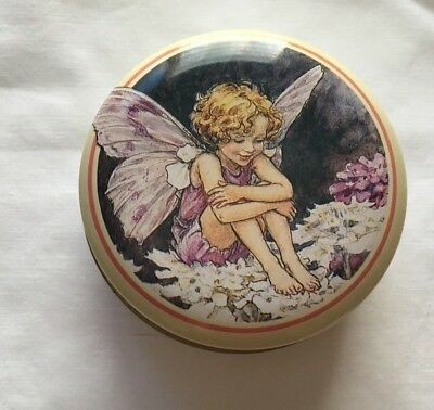 Cicely Mary Barker Flower Fairies Candytuft Fairy small round tin 1992