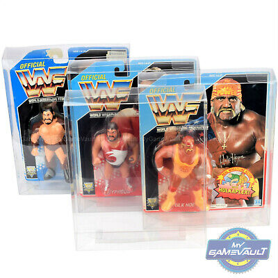 10 x DISPLAY CASES for WWF Hasbro Figures 0.5mm PROTECTOR PROTECTIVE BOX Type 2