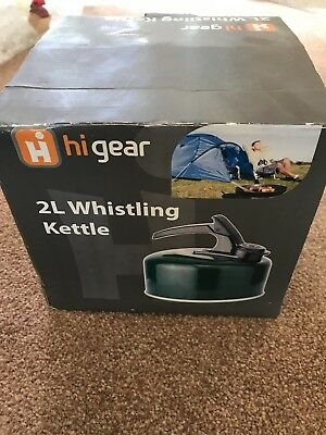 2L Whistling Camping Kettle - Green