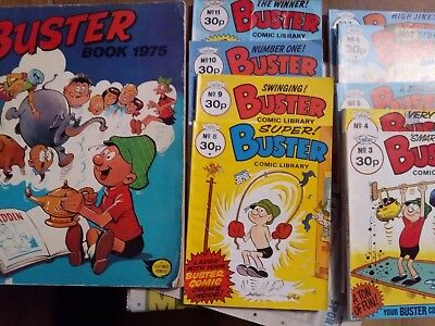 buster comic library x9 and buster  book 1975, 1 x comic 21/7/95